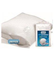 capa de travesseiro trisoft impermeável branca