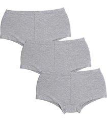 kit calcinha compra de lingerie algodão 3 peças - feminino