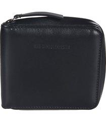 ann demeulemeester engraved logo zipped wallet
