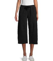 alala women's catch cropped pants - black - size s
