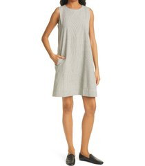 eileen fisher sleeveless a-line dress, size x-large in black/soft white at nordstrom