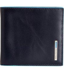 piquadro portafoglio blu square