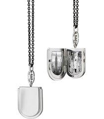 horseshoe locket steel chain