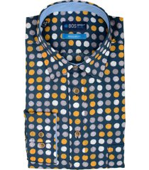 bos bright blue ward shirt casual hbd 20307wa59bo/500 multicolour