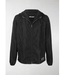 valentino vltn patch hooded jacket