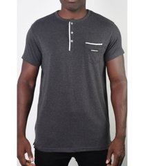 members only men's basic henley 3 button pocket tee