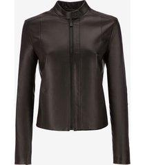 nappa café racer biker jacket black 40