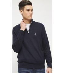 sweater nautica azul - calce regular