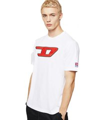 polera t just division d t shirt blanco diesel