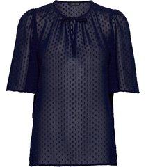 stacie blouses short-sleeved blauw stella nova