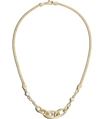 classic chain' freshwater pearl palu 18k gold necklace