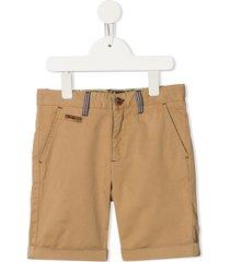 velveteen scott chino shorts - brown
