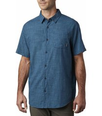 camisa hombre under exposure yd azul oscuro columbia