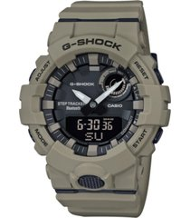 g-shock men's analog-digital step tracker khaki resin strap watch 48.6mm