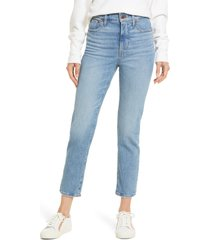 women's madewell the perfect vintage jean, size 26 - blue