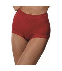 calcinha calça clássica safira demillus 57330 carmim vermelho