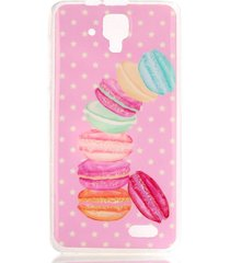imd tpu protective back phone case for lenovo a536 - macarrons