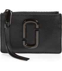 marc jacobs saffiano leather id wallet in black at nordstrom