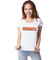 camiseta skull lab mamacita branca