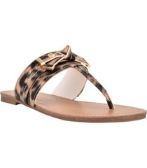 gbg los angeles women's lessan slip-on thong flat sandals women's shoes