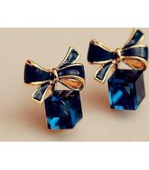 moda orecchio borchia orecchio anelli blu inchiostro boekont acqua cube cristallo geometrico orecchio anelli gioielli per donne