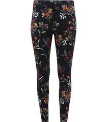 pantalón estampado flores color negro, talla 8
