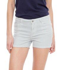 short only laney reg stripes azul/ blanco - calce ajustado