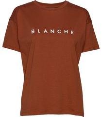 main contrast t-shirts & tops short-sleeved brun blanche