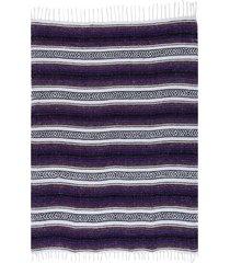 native yoga economy flaza mexican blanket purple cotton