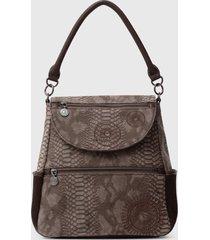 mochila positano marrón desigual