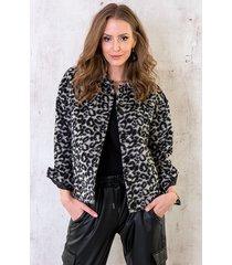 panter fleece jacket zwart