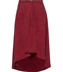 rodebjer cati knälång kjol röd rodebjer