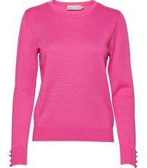 pullover-knit light stickad tröja rosa brandtex