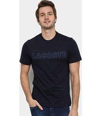 camiseta lacoste logo vazado masculina - masculino