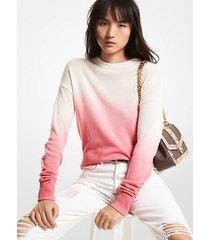 mk pullover in cashmere dip dye effetto sfumato - rosa intenso (rosa) - michael kors