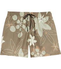 men's fendi kaleidoscope floral print swim trunks