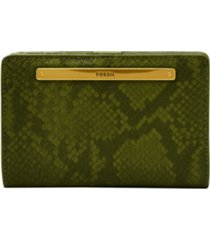 fossil women's liza multifunction leather wallet