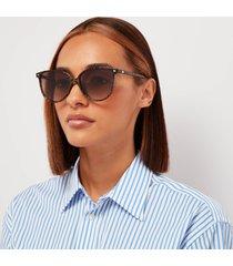 le specs women's eternally cat eye sunglasses - chalky tort