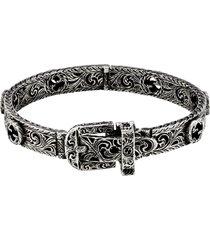 men's gucci garden buckle bracelet