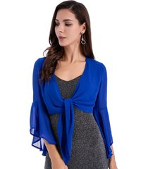 blusa manga campana azul nicopoly