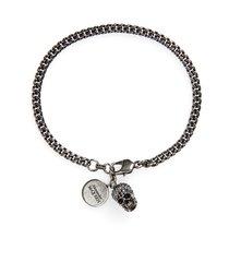 women's alexander mcqueen skull charm bracelet