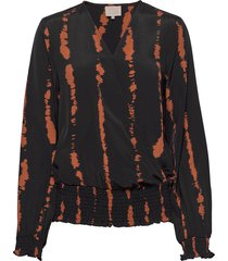 vally blouse blouse lange mouwen zwart minus