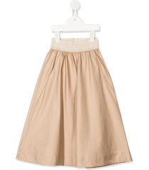 unlabel wide-leg cropped trousers - brown