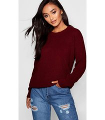 petite ivy oversized sweater, wine