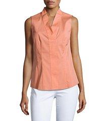 evan cotton-blend sleeveless top