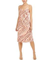 bar iii printed slip midi dress, created for macy's