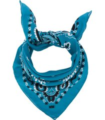 destin bandana print scarf - blue