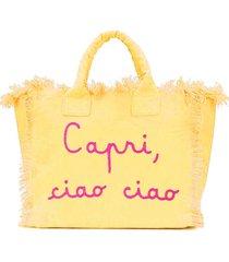 mc2 saint barth capri ciao ciao embroidery canvas bag