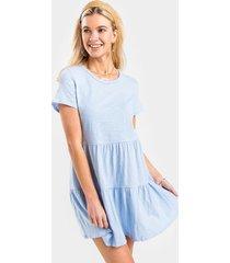 leslie tiered babydoll dress - light blue