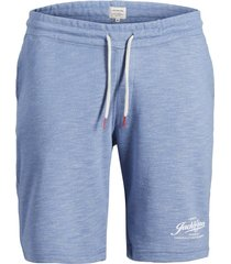 jack & jones plus size sweatshorts blauw melange